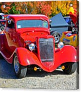 Colorful Car Show Acrylic Print