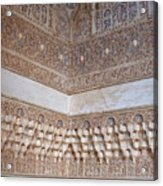 Colorful Carved Corner Acrylic Print