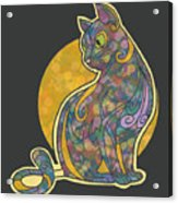 Colorful Cat Art Acrylic Print
