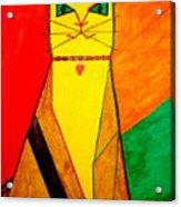 Colorful Cat Acrylic Print