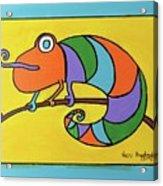 Colorful Chameleon Acrylic Print