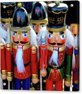 Colorful Christmas Nutcrackers Acrylic Print