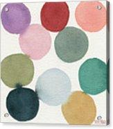 Colorful Circles Abstract Watercolor Acrylic Print