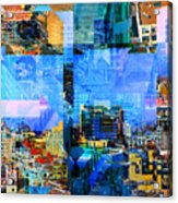 Colorful City Collage Acrylic Print
