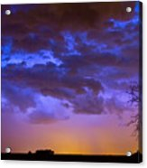 Colorful Cloud To Cloud Lightning Acrylic Print