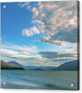 Colorful Clouds At Golden Hour On Lake Wakatipu At Glenorchy, Nz  Acrylic Print