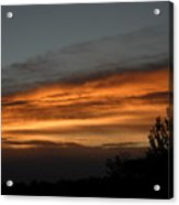 Colorful Clouds In Dawn Sky Acrylic Print