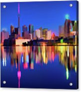 Colorful Cn Tower  Acrylic Print