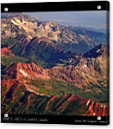 Colorful Colorado Rocky Mountains Planet Art Poster  Acrylic Print