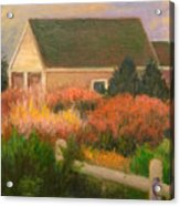 Colorful Cottage Cape Cod Acrylic Print