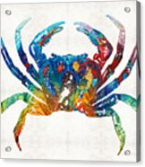 Colorful Crab Art By Sharon Cummings Acrylic Print
