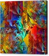 Colorful Crash 11 Acrylic Print