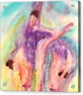 Colorful Dance Acrylic Print by John YATO