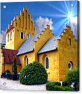 Colorful Danish Church Acrylic Print