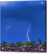 Colorful Desert Storm Acrylic Print