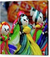 Colorful Dolls Acrylic Print