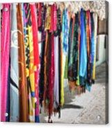 Colorful Dominican Garments Acrylic Print