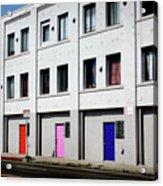 Colorful Doors- By Linda Woods Acrylic Print
