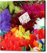 Colorful Easter Feathers Acrylic Print