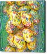 Colorful Eggs Acrylic Print
