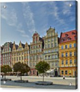 colorful facades on Market Square or Ryneck of Wroclaw Acrylic Print