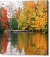 Colorful Fall Foliage Ossipee Lake New Hampshire Acrylic Print
