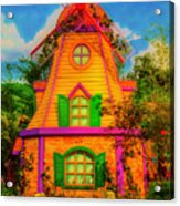 Colorful Fantasy Windmill Acrylic Print