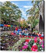 Colorful Festival Along River Walk Acrylic Print