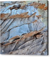 Colorful Fins Of Sandstone In Valley Of Fire Acrylic Print