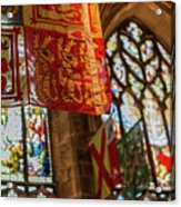 Colorful Flags And Stained Glasss Windows Acrylic Print