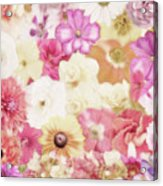 Colorful Floral Background Acrylic Print