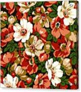Colorful Floral Design Acrylic Print