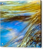 Colorful Flowing Water Acrylic Print