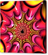 Colorful Fractal Art With Candy-colors Acrylic Print