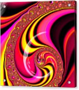 Colorful Fractal Spiral Red Yellow Pink Acrylic Print
