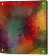 Colorful Geometric Pattern Abstract Art Acrylic Print