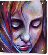 Colorful Girl Acrylic Print