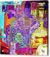 Colorful Glass Bottles Abstract Acrylic Print