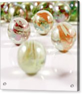 Colorful Glass Marbles Close-up Views Acrylic Print