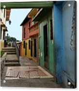 Colorful Guayaquil Alley Acrylic Print