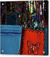 Colorful Hanging Pouches Acrylic Print