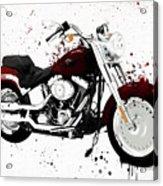 Colorful Harley Davidson Paint Splatter Acrylic Print