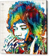 Colorful Haze - Jimi Hendrix Tribute Acrylic Print