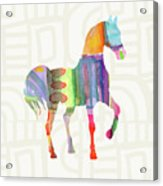 Colorful Horse 3- Art By Linda Woods Acrylic Print