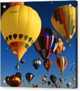 Colorful Hot Air Balloons - Mass Ascension Photo Acrylic Print