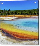 Colorful Hot Spring In Yellowstone Acrylic Print