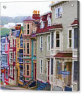 Colorful Houses In St. Johns, Nl Acrylic Print