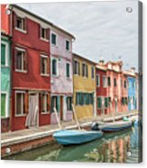 Colorful Houses On The Island Of Burano Acrylic Print