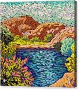 Colorful Hueco Tanks Acrylic Print