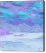 Colorful Icebergs - 3d Render Acrylic Print